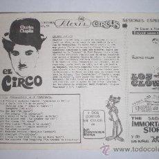 Cine: EL CIRCO CHARLES CHAPLIN. Lote 36594599