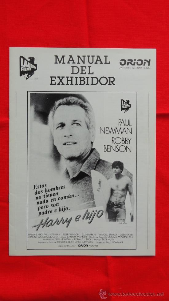HARRY E HIJO, IMPECABLE GUÍA 8 PÁG. LAUREN FILMS, PAUL NEWMAN ROBBY BENSON (Cine - Guías Publicitarias de Películas )