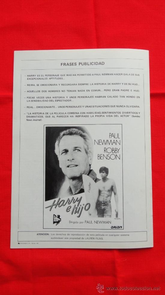 Cine: HARRY E HIJO, IMPECABLE GUÍA 8 PÁG. LAUREN FILMS, PAUL NEWMAN ROBBY BENSON - Foto 5 - 36614651