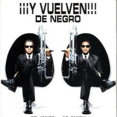 Cine: MIIB HOMBRES DE NEGRO II, GUIA ORIGINAL SENCILLA WILL SMITH . Lote 46710346