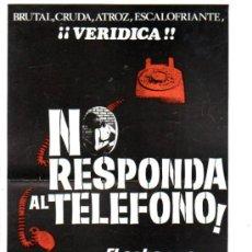 Cine: GUIA PUBLICITARIA DE LA PELICULA NO RESPONDA AL TELEFONO.. Lote 36778465