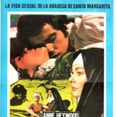 Cine: GUIA PUBLICITARIA DE LA PELICULA LA MONJA DE MONZA.. Lote 36778476