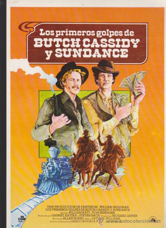 LOS PRIMEROS GOLPES DE BUTCH CASSIDY Y SUNDANCE. GUÍA DE 20TH. (Cine - Guías Publicitarias de Películas )