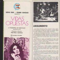 Cine: VIDAS OPUESTAS. GUÍA DE SUEVIA FILMS.. Lote 36853864