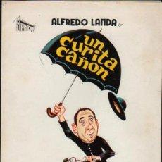 Cine: GUIA PUBLICITARIA DE LA PELICULA EL CURITA CAÑON.. Lote 36978920