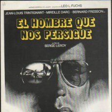 Cine: GUIA PUBLICITARIA DE LA PELICULA EL HOMBRE QUE NOS PERSIGUE.. Lote 36979370