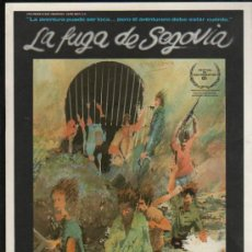 Cine: GUIA PUBLICITARIA DE LA PELICULA LA FUGA DE SEGOVIA.. Lote 36979980