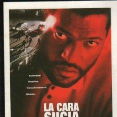 Cine: GUIA PUBLICITARIA DE LA PELICULA LA CARA SUCIA DE LA LEY.. Lote 36980102