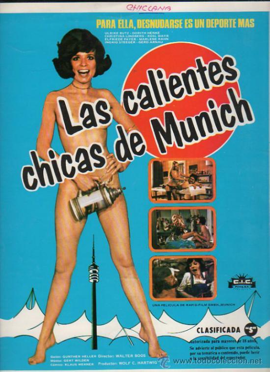 GUIA PUBLICITARIA DE LA PELICULA LAS CALIENTES CHICAS DE MUNICH. (Cine - Guías Publicitarias de Películas )