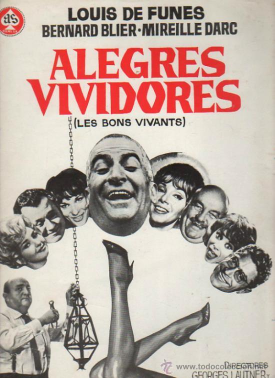 GUIA PUBLICITARIA DE LA PELICULA ALEGRES VIVIDORES. (Cine - Guías Publicitarias de Películas )