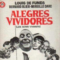 Cine: GUIA PUBLICITARIA DE LA PELICULA ALEGRES VIVIDORES.. Lote 36982845