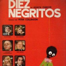 Cine: GUIA PUBLICITARIA DE LA PELICULA DIEZ NEGRITOS.. Lote 36983158