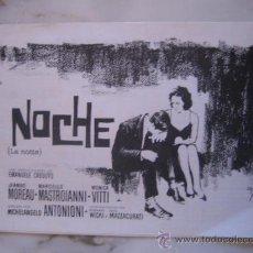 Cine: LA NOCHE ANTONIONI MASTROIANNI JEANNE MOREAU MONICA VITTI - GUIA PUBLICITARIA ORIGINAL ESTRENO. Lote 37003322