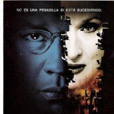 Cine: EL MENSAJERO DEL MIEDO GUIA ORIGINAL DOBLE DEL ESTRENO DE LA PELICULA DENZEL WASHINGTON-MERYL STREEP. Lote 37233435