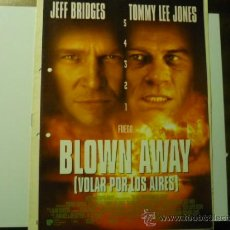 Cine: GUIA DOBLE BLOWN AWAY -JEFF BRIDGES. Lote 37237194