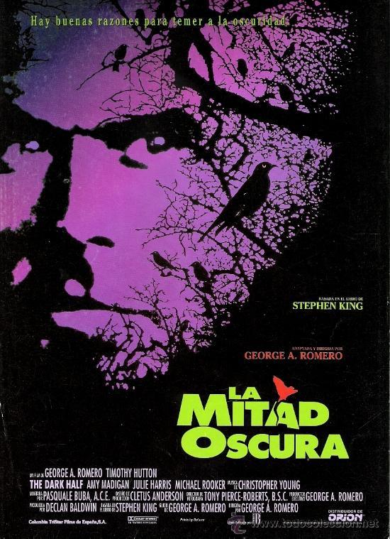 LA MITAD OSCURA GUIA ORIGINAL SENCILLA DEL ESTRENO DE LA PELICULA (Cine - Guías Publicitarias de Películas )