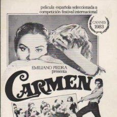 Cine: CARMEN. GUÍA DE CB FILMS.. Lote 37378336
