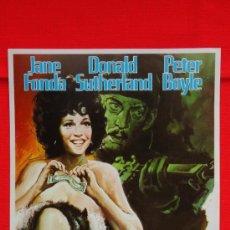 Cine: MATERIAL AMERICANO, GUÍA SENCILLA 1973, EXCELENTE ESTADO, JANE FONDA DONALD SUTHERLAND. Lote 37410392