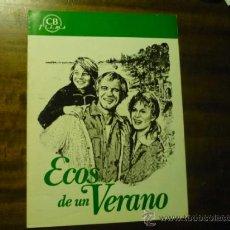 Cine: GUIA ECOS DE UN VERANO.-RICHARD HARRIS. Lote 37437336