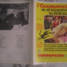 Cine: CORRUPCION PETER CUSHING MAC - GUIA PUBLICITARIA ORIGINAL ESTRENO. Lote 37446268