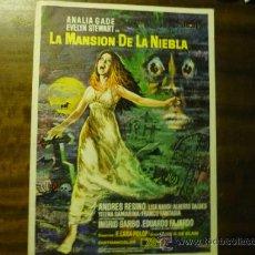 Cine: GUIA TRIPTICO LA MANSION DE LA NIEBLA .- ANALIA GADE. Lote 37464985