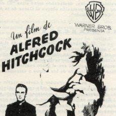 Cine: YO CONFIESO 1953 (GUIA ORIGINAL 8 PAGINAS) ALFRED HITCHCOCK - MONTGOMERY CLIFT. Lote 37584105