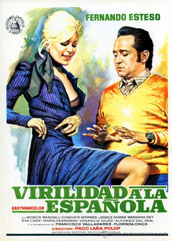 VIRILIDAD A LA ESPAÑOLA 1975 ( GUIA ORIGINAL) FERNANDO ESTESO - BARBARA REY - DISEÑO MAC (Cine - Guías Publicitarias de Películas )