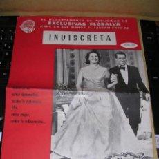 Cine: INDISCRETA GARY GRANT ,INGRID BERGMAN ,DIRECT.STANLEY DONEN HOJA Nº 102 EXCLUSIVAS FLORALVA . Lote 37895228