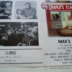 Cine: MAX BAR CON JOHN SAVAGE DAVID MORSE -CARTEL DOBLE- AÑOS 70. Lote 37919681