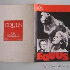 Cine: EQUUS RICHARD BURTON - GUIA PUBLICITARIA ORIGINAL ESTRENO. Lote 38052530