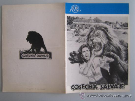 COSECHA SALVAJE- GUIA PUBLICITARIA ORIGINAL ESTRENO (Cine - Guías Publicitarias de Películas )