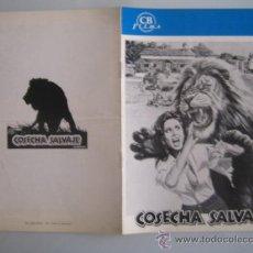 Cine: COSECHA SALVAJE- GUIA PUBLICITARIA ORIGINAL ESTRENO. Lote 38052658