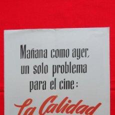 Cine: TRIPTICO PUBLICITARIO DE MGM, AÑOS 1953 Y 54, QUO VADIS, LA VIUDA ALEGRE, LILI.... Lote 38109978