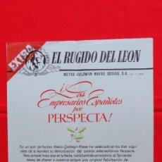 Cine: EL RUGIDO DEL LEON MGM EXTRA NAVIDAD Nº 1 1955, LOS EMPRESARIOS CON PERSPECTA, DOBLE EXCTE. ESTADO. Lote 38110278