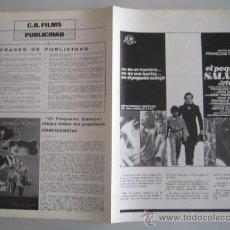 Cine: EL PEQUEÑO SALVAJE FRANÇOIS TRUFFAUT - GUIA PUBLICITARIA ORIGINAL ESTRENO JEAN-PIERRE CARGOL. Lote 38121656