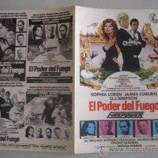 Cine: EL PODER DEL FUEGO SOFIA LOREN - GUIA PUBLICITARIA ORIGINAL ESTRENO. Lote 38121759
