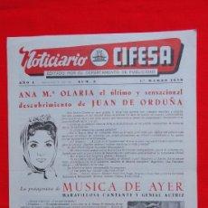 Cine: NOTICIARIO CIFESA, Nº 3, EXCTE. ESTADO, 1º DE MARZO DE 1959, 4 PAGINAS. Lote 38183764