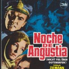 Cine: NOCHE DE ANGUSTIA. GUÍA DE CEPICSA.. Lote 38225251