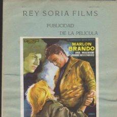 Cine: PIEL DE SERPIENTE. GUÍA DE REY SORIA FILMS (16 HOJAS) CON FOLLETO PEGADO.. Lote 38226829
