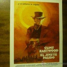 Cine: GUIA EL JINETE PALIDO.- ESTRENO -- CLINT EASTWOOD. Lote 38301472
