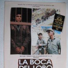 Cine: LA BOCA DEL LOBO 10GUIAS X 25€ 100GUIASX130€ ENVIOS INCLUIDOS . Lote 38338860
