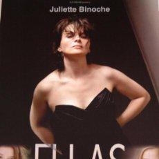 Cine: ELLAS - GUIA ORIGINAL - JULIETTE BINOCHE LOTE 20 GUIAS 30 EUROS. Lote 38385707