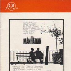 Cine: MANHATTAN. GUÍA DE CB FILMS.. Lote 38619427