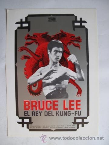 BRUCE LEE EL REY DEL KUNG-FU NO ENTRA EN LOTES (Cine - Guías Publicitarias de Películas )