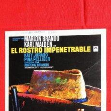 Cine: EL ROSTRO IMPENETRABLE, GUÍA DOBLE, MARLON BRANDO KARL MALDEN. Lote 38665730