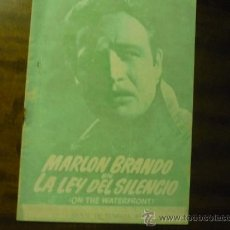 Cine: GUIA LA LEY DEL SILENCIO .-MARLON BRANDO. Lote 38706923