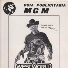 Cinema: WEST WORLD ALMAS DE METAL. GUÍA DE MGM.. Lote 38724883