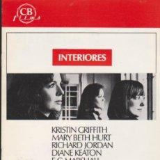 Cine: INTERIORES. GUÍA DE CB FILMS.. Lote 39000845