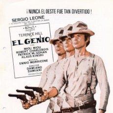 Cine: EL GENIO 1975 (GUIA ORIGINAL ESTRENO ESPAÑA) TERENCE HILL - KLAUS KINSKI . Lote 39141341