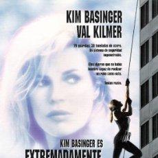 Cine: EXTREMADAMENTE PELIGROSA, GUIA ORIGINAL SENCILLA, KIM BASINGER, VAL KILMER. Lote 39154890